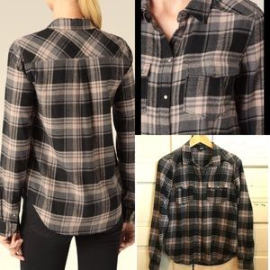 PAIGE Plaid Button Down Shirt